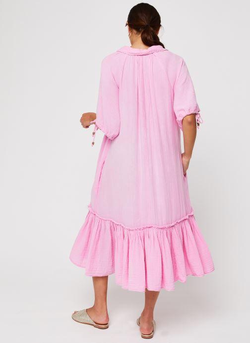 Vêtements Free People Maya Shirtdress Rose vue portées chaussures