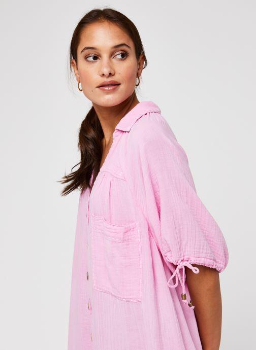 Vêtements Free People Maya Shirtdress Rose vue face