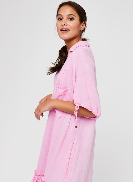 Vêtements Free People Maya Shirtdress Rose vue droite