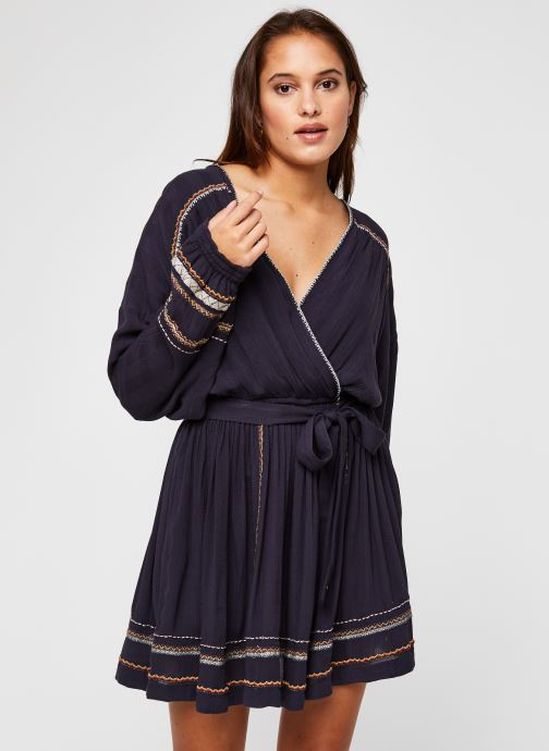 Kleding Free People Delilah Embroidered Wrap Blauw detail