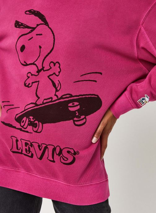 Vêtements Levi's Unbasic Crew Sweatshirt Rose vue face