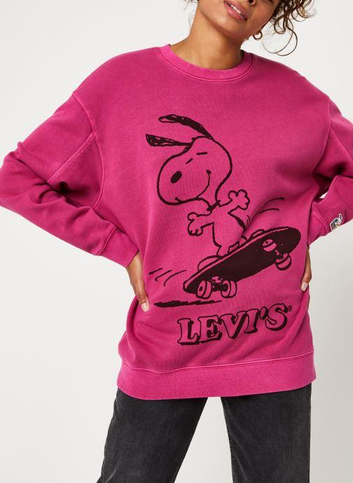 Vêtements Levi's Unbasic Crew Sweatshirt Rose vue droite