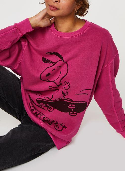 Vêtements Levi's Unbasic Crew Sweatshirt Rose vue détail/paire