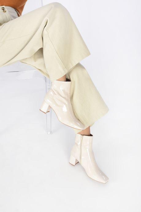 Bottines et boots Made by SARENZA Classic Mix Boots #6 Blanc vue bas / vue portée sac
