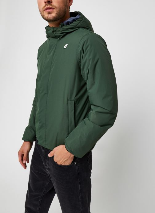 Vêtements K-Way  Jack Ripstop Marmotta Vert vue droite