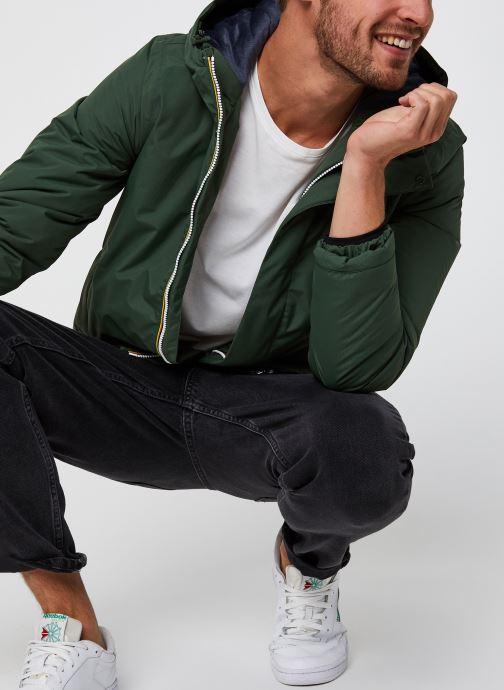 Vêtements K-Way  Jack Ripstop Marmotta Vert vue détail/paire