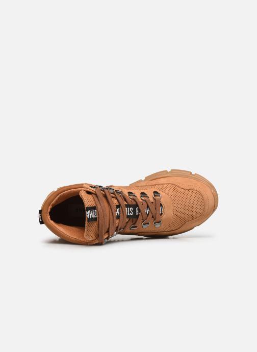 Sneaker Steve Madden OVVAR braun ansicht von links