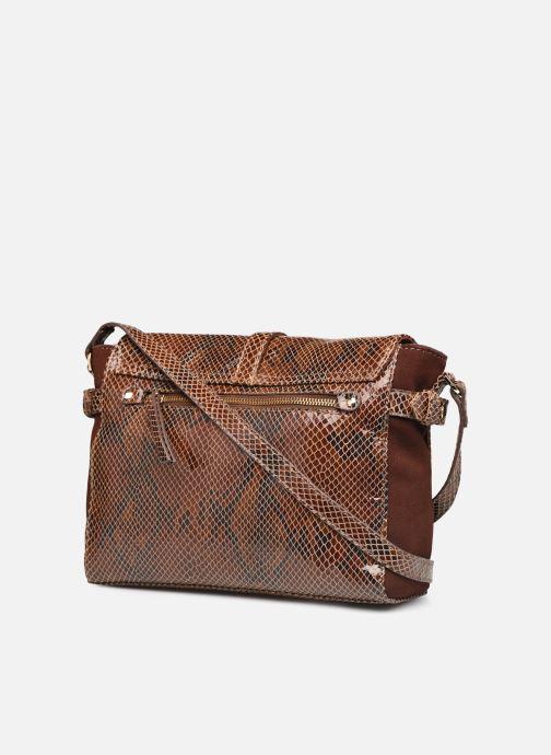 Handtaschen Petite mendigote Wilson braun ansicht von rechts
