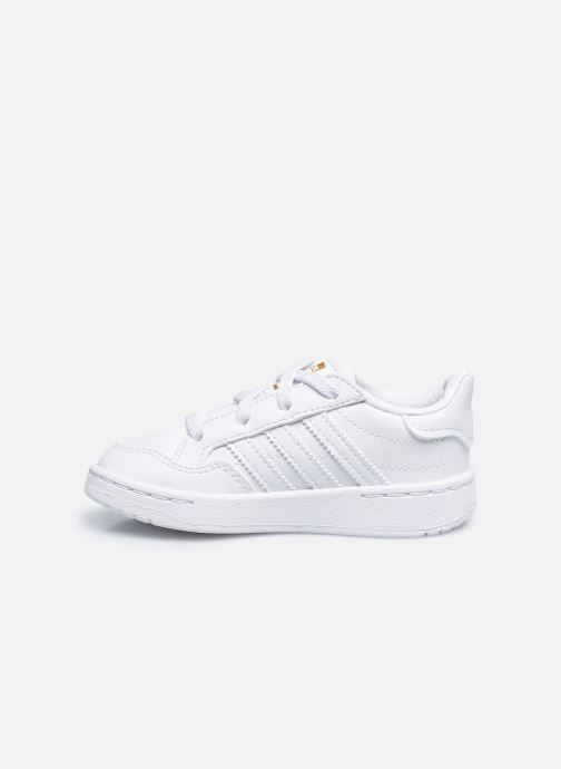 Deportivas adidas originals Team Court El I Blanco vista de frente
