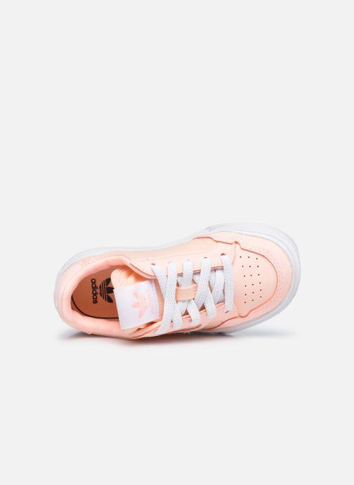 Sneaker adidas originals Continental Vulc El rosa ansicht von links