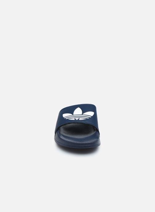 Sandales et nu-pieds adidas originals Adilette Lite J Bleu vue portées chaussures
