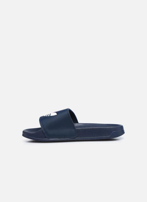 Sandales et nu-pieds adidas originals Adilette Lite J Bleu vue face