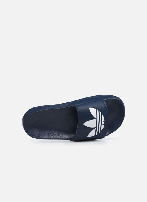 Sandalias adidas originals Adilette Lite J Azul vista lateral izquierda