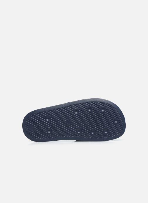 Sandales et nu-pieds adidas originals Adilette Lite J Bleu vue haut