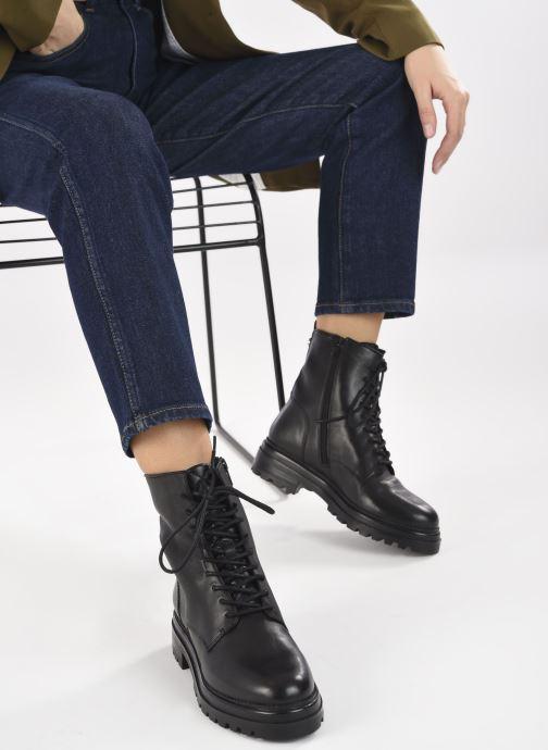 Stiefeletten & Boots Steve Madden NUVO LEATHER schwarz ansicht von unten / tasche getragen