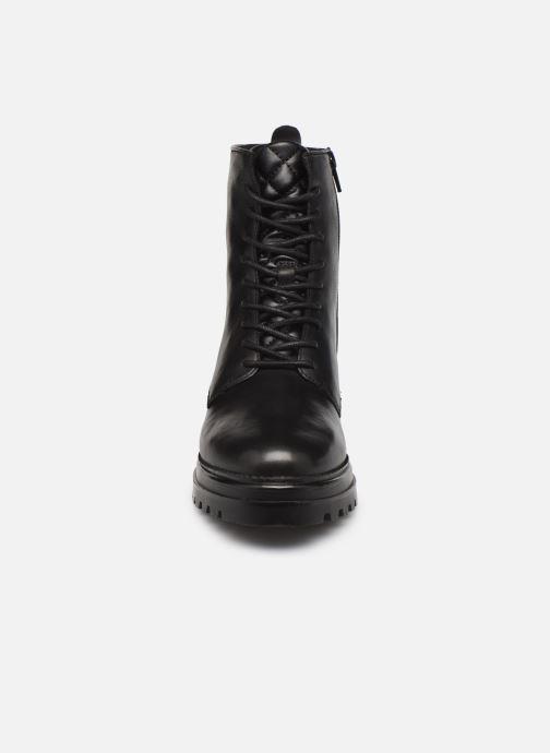 Stiefeletten & Boots Steve Madden NUVO LEATHER schwarz schuhe getragen