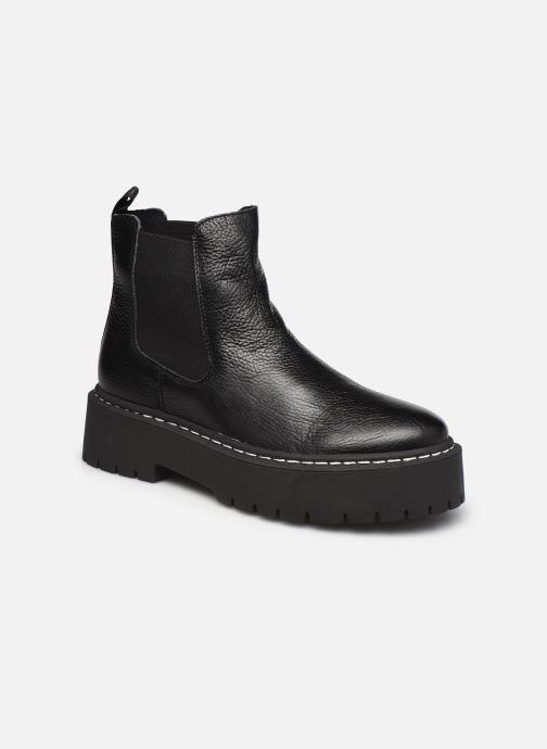 Boots en enkellaarsjes Steve Madden VEERLY  LEATHER Zwart detail