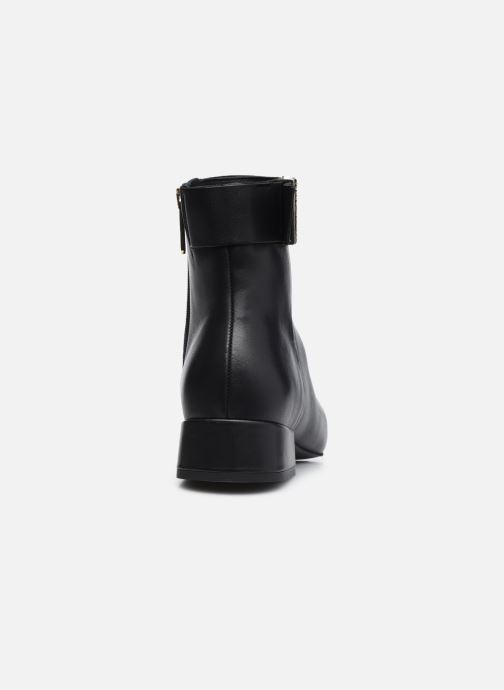 Botines  Tommy Hilfiger LEATHER SQUARE TOE MID HEEL BOOT Negro vista lateral derecha