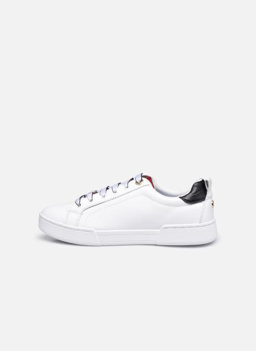 Sneaker Tommy Hilfiger BRANDED OUTSOLE CROC SNEAKER weiß ansicht von vorne