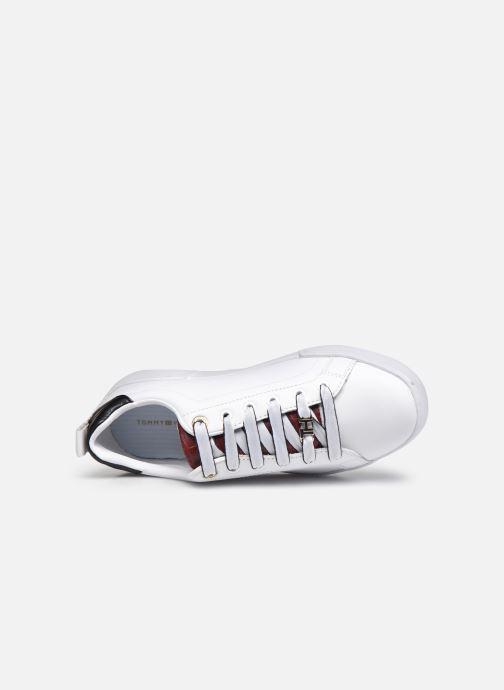 Sneaker Tommy Hilfiger BRANDED OUTSOLE CROC SNEAKER weiß ansicht von links