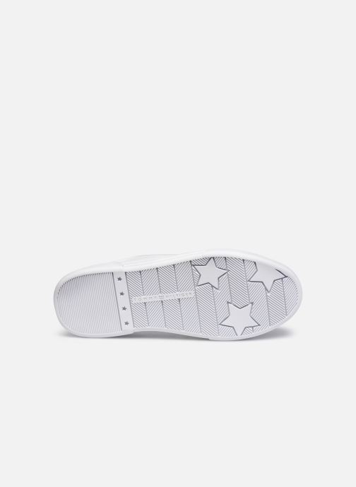 Sneaker Tommy Hilfiger BRANDED OUTSOLE CROC SNEAKER weiß ansicht von oben