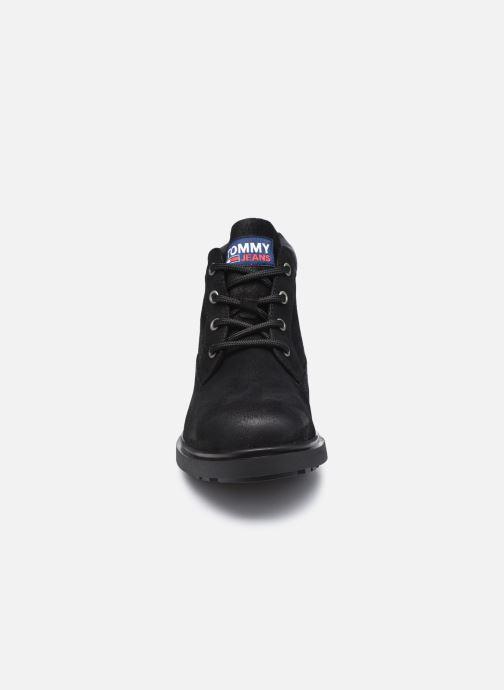 Stiefeletten & Boots Tommy Hilfiger LOW CUT TOMMY JEANS BOOT schwarz schuhe getragen