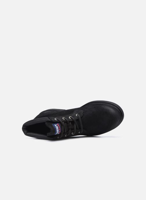Stiefeletten & Boots Tommy Hilfiger LOW CUT TOMMY JEANS BOOT schwarz ansicht von links