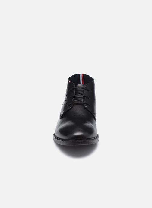 Stiefeletten & Boots Tommy Hilfiger ELEVATED LEATHER MIX LOW BOOT schwarz schuhe getragen