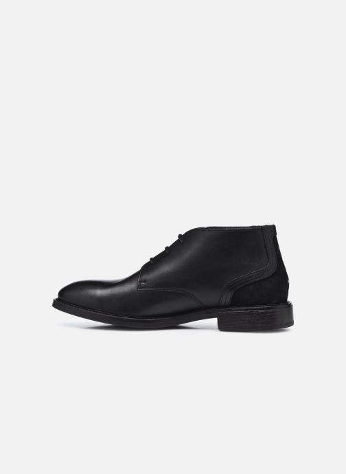 Stiefeletten & Boots Tommy Hilfiger ELEVATED LEATHER MIX LOW BOOT schwarz ansicht von vorne