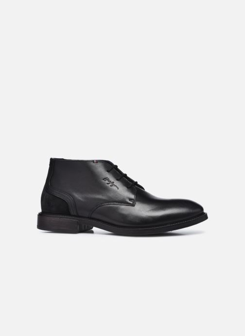 Stiefeletten & Boots Tommy Hilfiger ELEVATED LEATHER MIX LOW BOOT schwarz ansicht von hinten