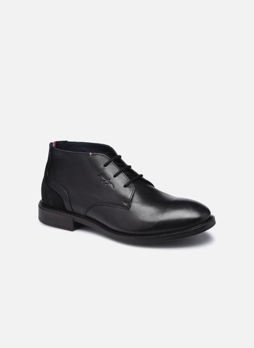 Stiefeletten & Boots Tommy Hilfiger ELEVATED LEATHER MIX LOW BOOT schwarz detaillierte ansicht/modell