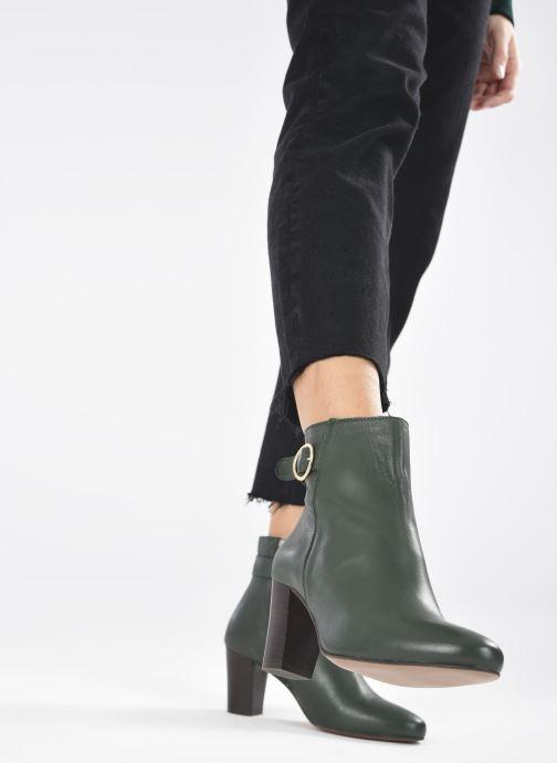 Bottines et boots Georgia Rose Calissa Vert vue bas / vue portée sac