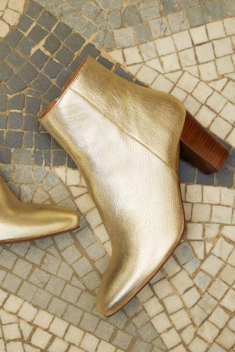 Bottines et boots Georgia Rose Capucine Or et bronze vue 3/4