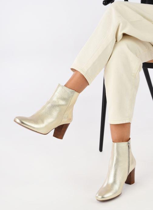Bottines et boots Georgia Rose Capucine Or et bronze vue bas / vue portée sac
