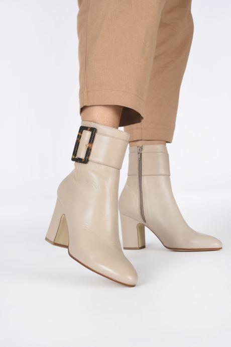Bottines et boots Made by SARENZA Classic Mix Boots #1 Beige vue bas / vue portée sac