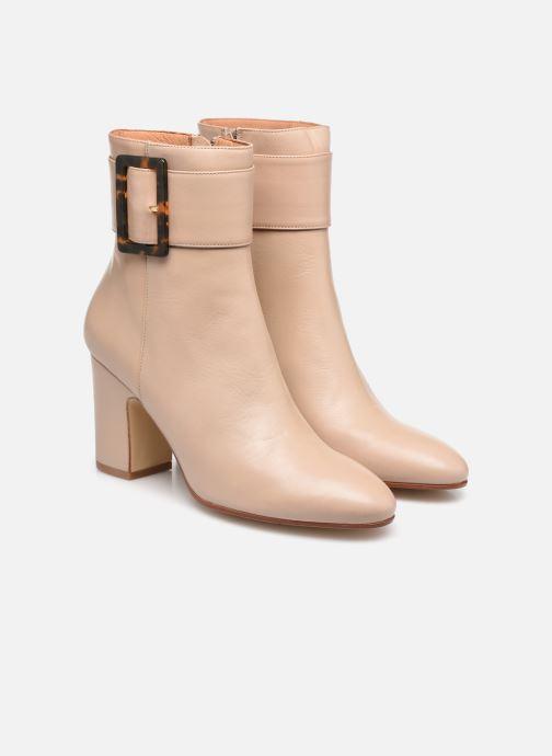 Bottines et boots Made by SARENZA Classic Mix Boots #1 Beige vue derrière