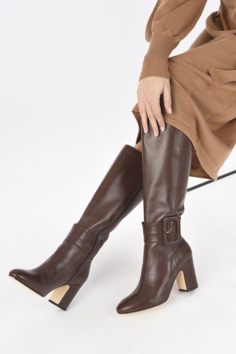Stiefel Made by SARENZA Classic Mix Bottes #1 braun ansicht von unten / tasche getragen