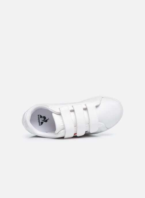Sneakers Le Coq Sportif COURTCLASSSIC PS FLAG Bianco immagine sinistra