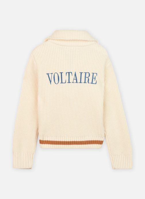 Vêtements Zadig & Voltaire X15231 Blanc vue portées chaussures