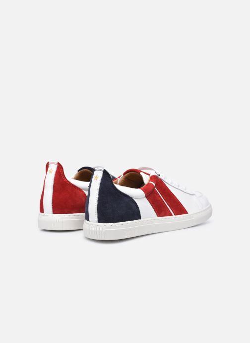 Sneaker Caval Korben&Leeloo F weiß ansicht von hinten