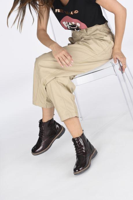 Stiefeletten & Boots S.Oliver Flagy weinrot ansicht von unten / tasche getragen