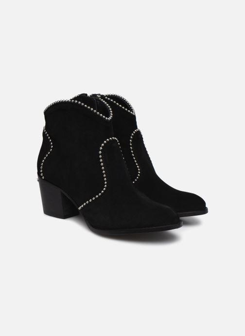Bottines et boots Zadig & Voltaire Molly Suede + S Noir vue 3/4