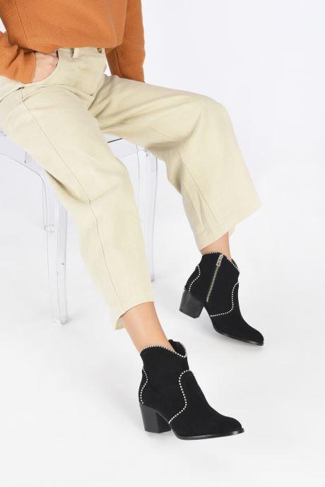 Bottines et boots Zadig & Voltaire Molly Suede + S Noir vue bas / vue portée sac