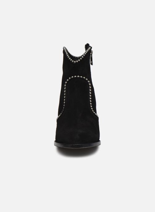 Bottines et boots Zadig & Voltaire Molly Suede + S Noir vue portées chaussures
