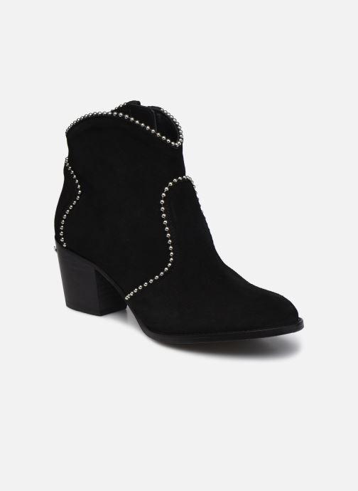 Bottines et boots Zadig & Voltaire Molly Suede + S Noir vue détail/paire