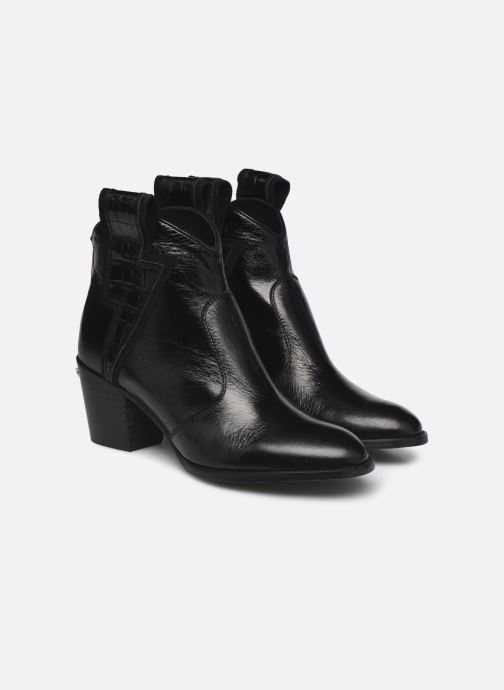 Bottines et boots Zadig & Voltaire Molly Flash Vin Noir vue 3/4