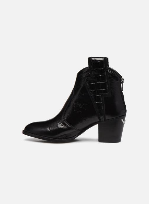 Bottines et boots Zadig & Voltaire Molly Flash Vin Noir vue face