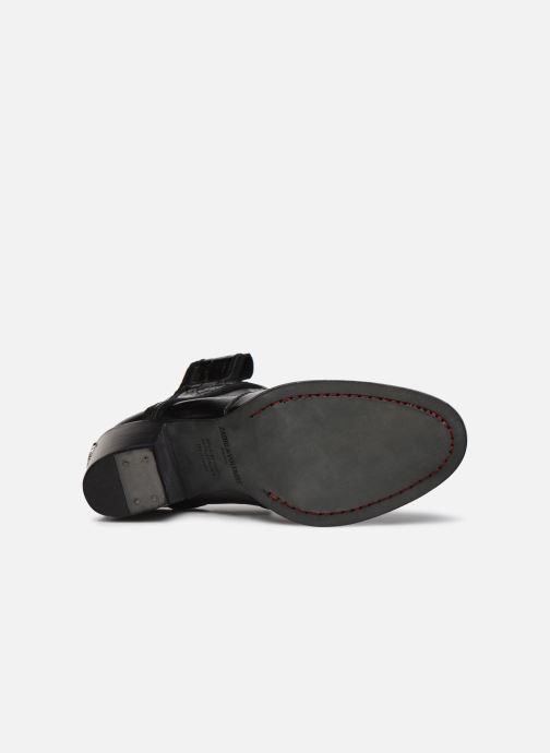 Bottines et boots Zadig & Voltaire Molly Flash Vin Noir vue haut