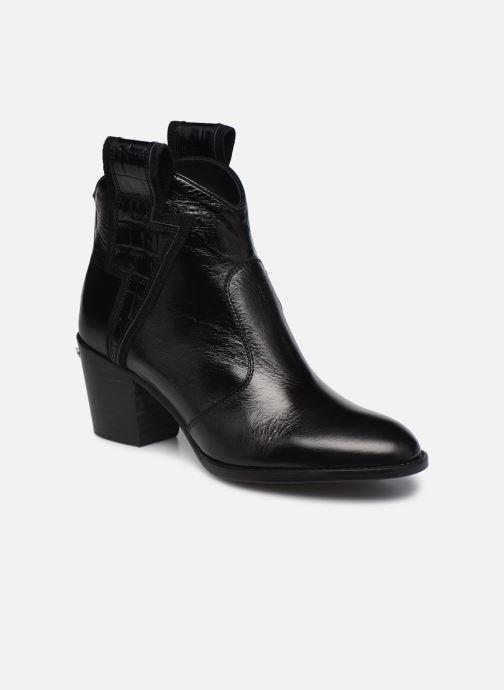 Bottines et boots Zadig & Voltaire Molly Flash Vin Noir vue détail/paire