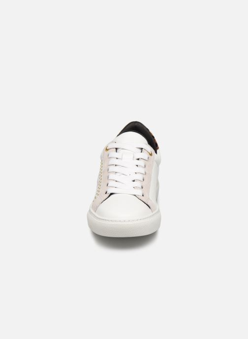 Baskets Zadig & Voltaire Zv1747 Smooth C Blanc vue portées chaussures